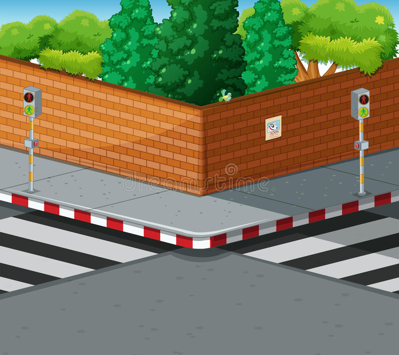 Free Street Corner With Two Zebra Crossings Royalty Free Stock Photos - 68665018