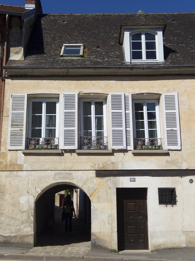Street of Crecy la Chapelle stock photo
