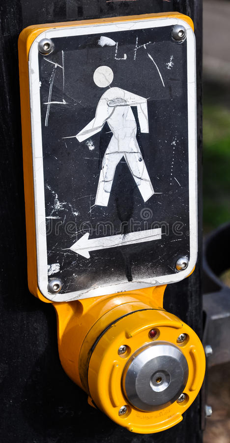 Download Street Crossing stock image. Image of urban, yellow, sign - 30737399