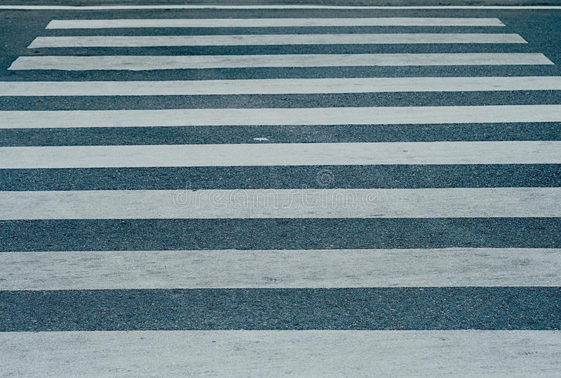 The street and crosswalk royalty free stock photo