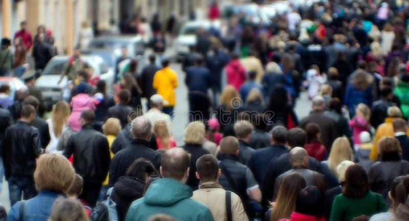 Street crowd stock photography