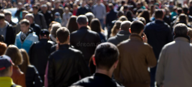 Street crowd royalty free stock image
