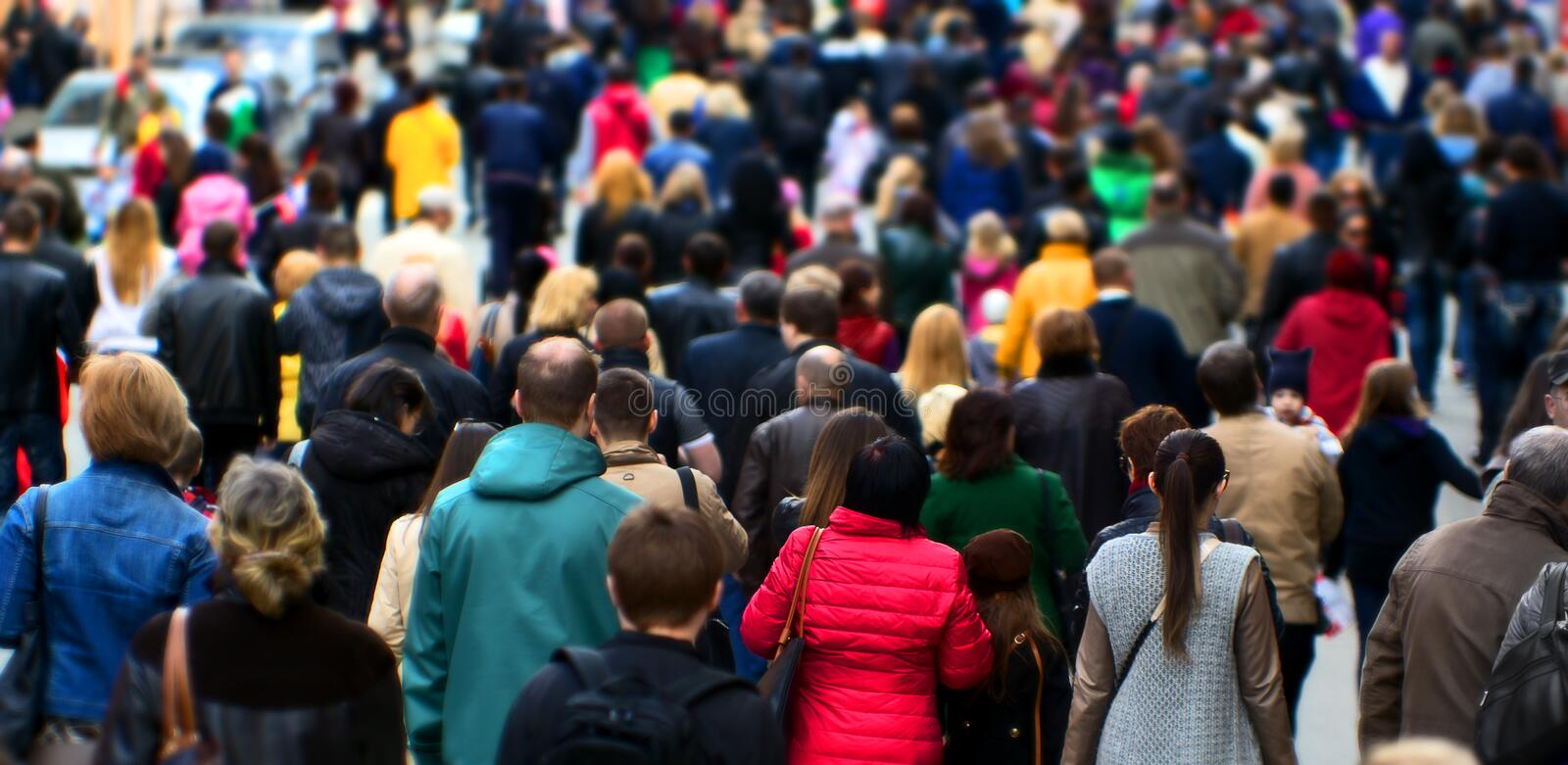 Street crowd royalty free stock images