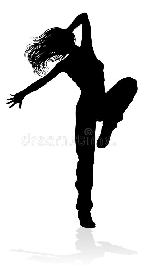 Street Dance Dancer Silhouette royalty free illustration