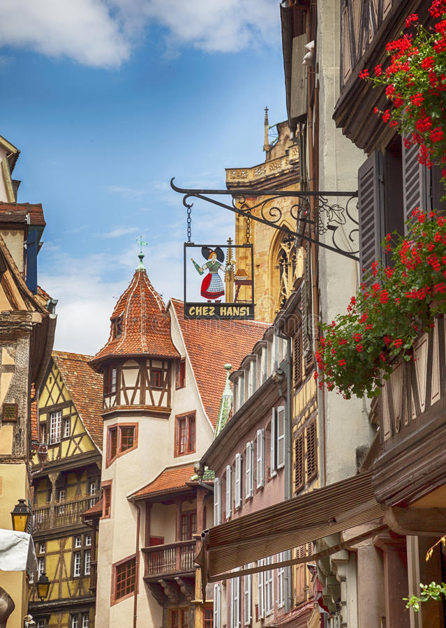 street decoration of typical french signage strasbourg france editorial image image of town. Black Bedroom Furniture Sets. Home Design Ideas