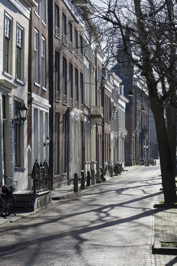 Street in Delft. Typical street in Delft, the Netherlands stock photos