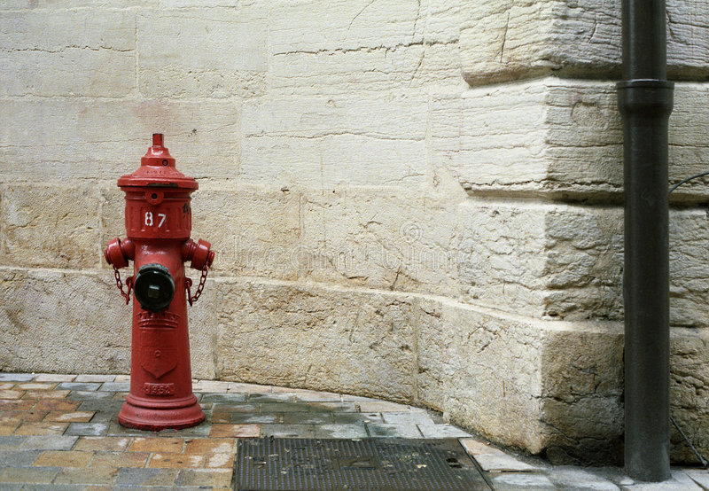 Street detail; hydrant stock image
