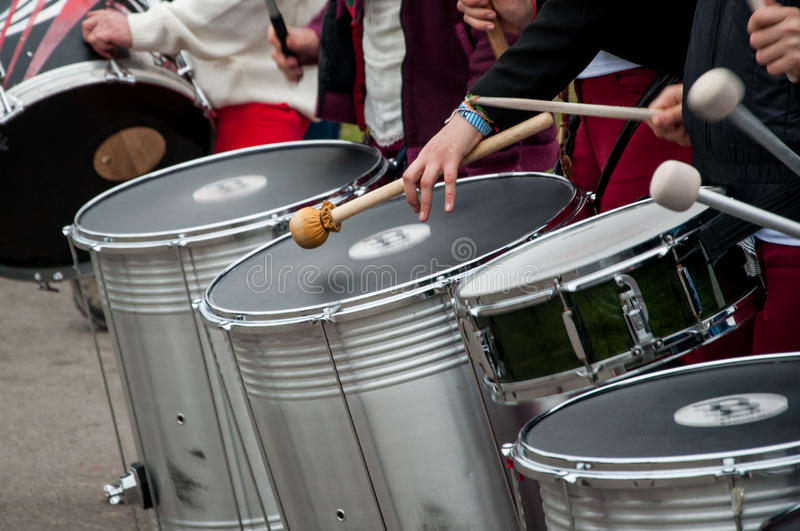 Street drummers royalty free stock image