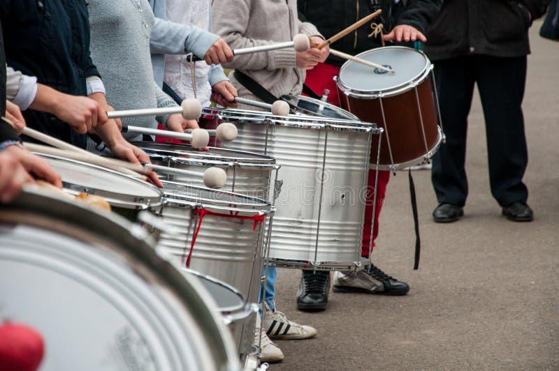 Street drummers stock photos