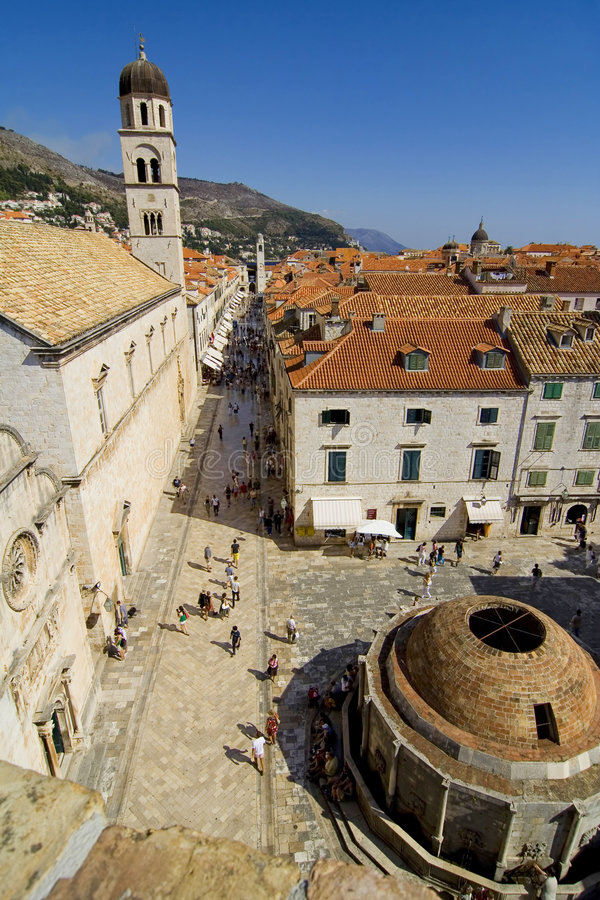 The street of Dubrovnik royalty free stock image