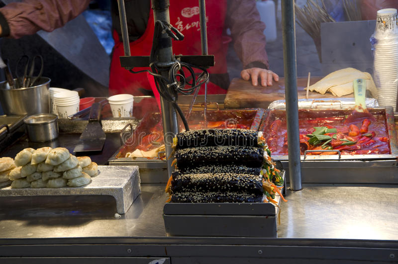 Street eats Busan South Korea royalty free stock photo