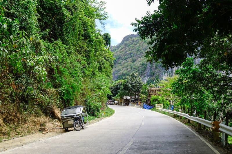 Street at El Nido Town in Palawan, Philippines stock photography