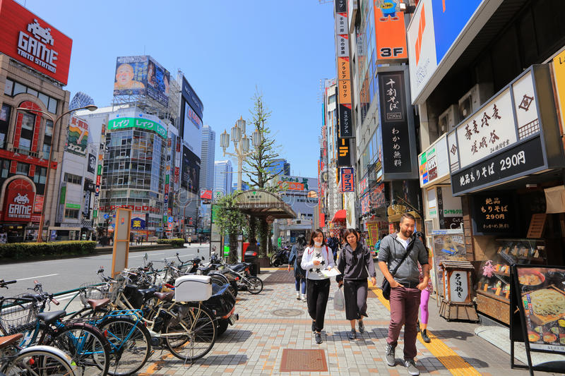 Street is the entrance of Kabukicho. Where is the night life place for tourists in Tokyo stock images