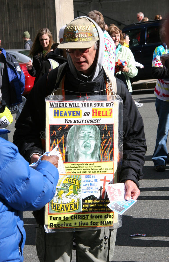 Download Street Evangelist editorial stock photo. Image of teaching - 27614498
