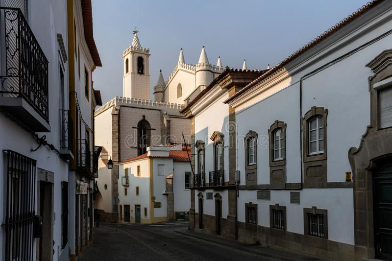 Church of St. Francis in Evora, Portugal royalty free stock images