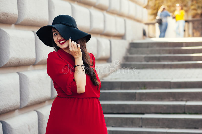 Street fashion, plus size model stock photos