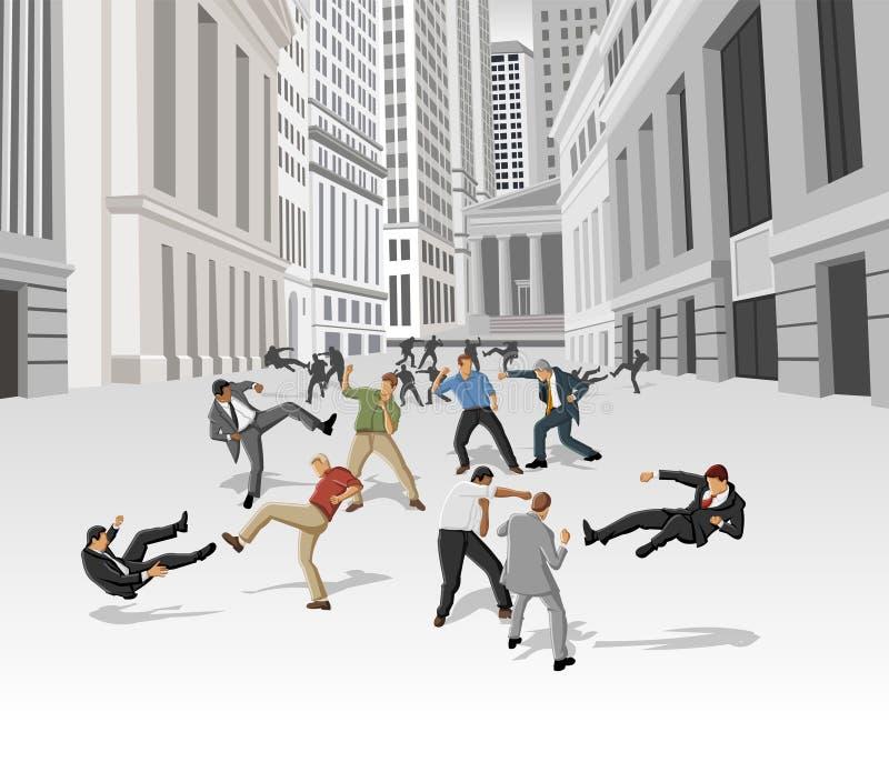 Download Street fight stock vector. Illustration of people, manhattan - 28445120