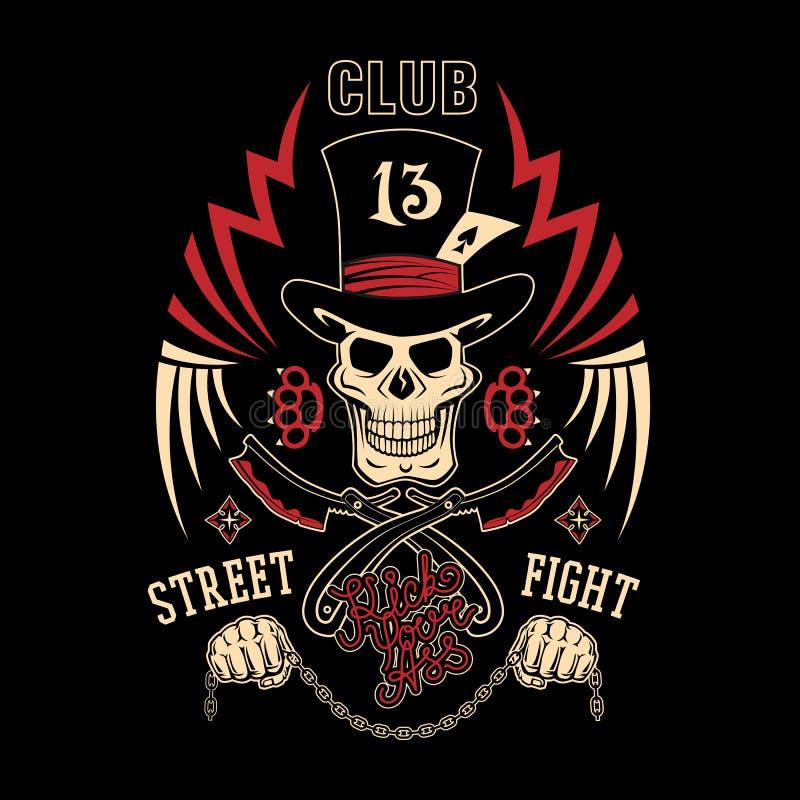 Free Street Fight Emblem Royalty Free Stock Image - 53064926