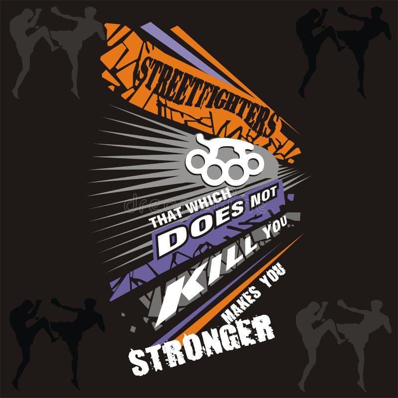 Street fighters stock illustration
