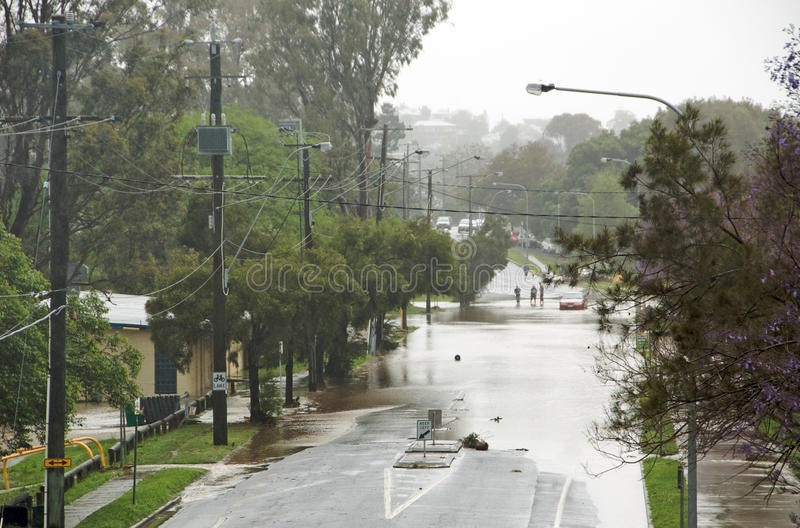 Street Flooding royalty free stock images