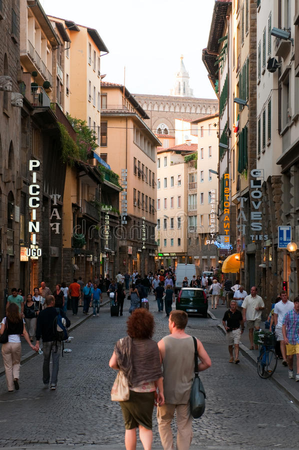 Street of the Florence royalty free stock image