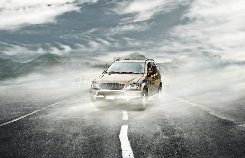 Street Fog Stock Images