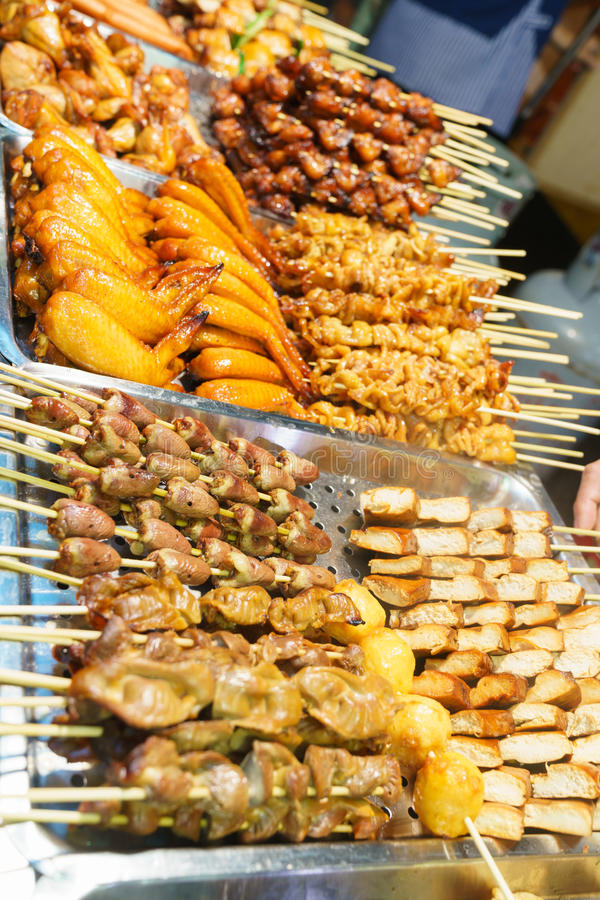 Street food in asia stock image