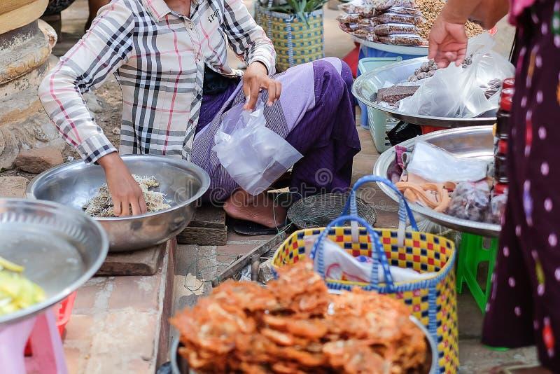 Street food in Bagan, Myanmar stock photos