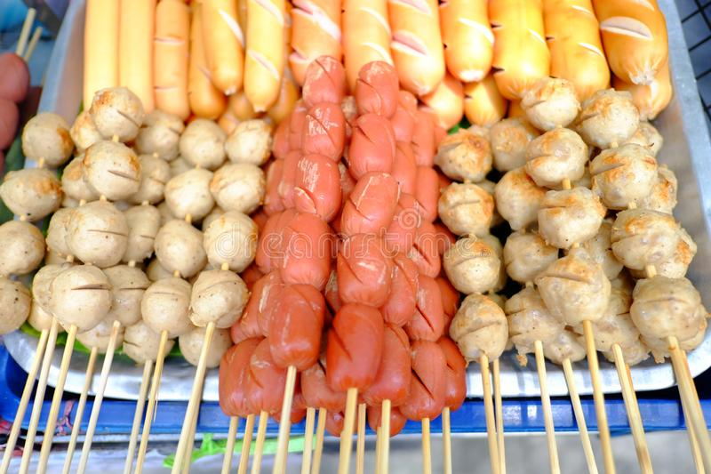 Street food in chinatown bangkok royalty free stock photography