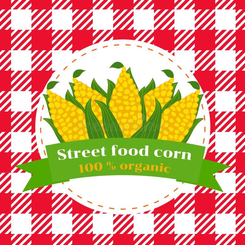 Street food corn vector illustration