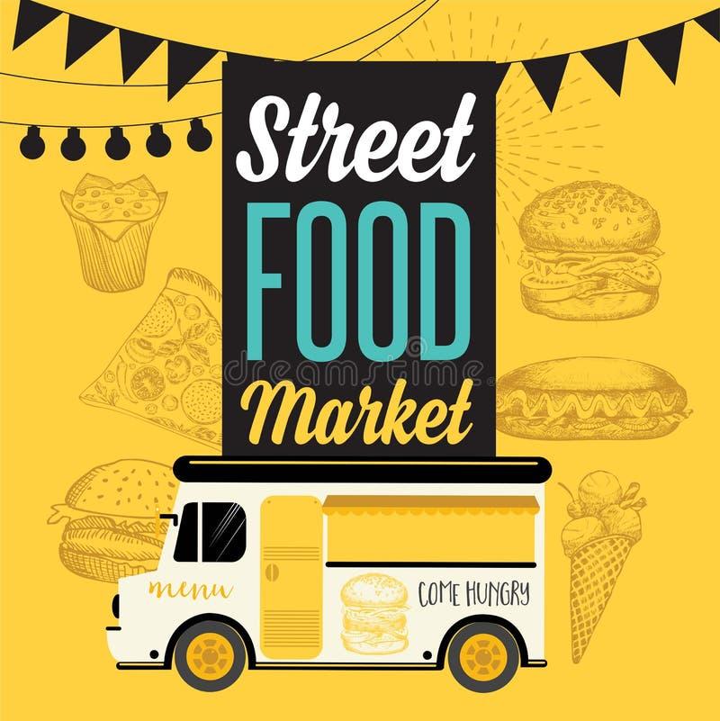 Download Street Food Festival Banner Stock Vector
