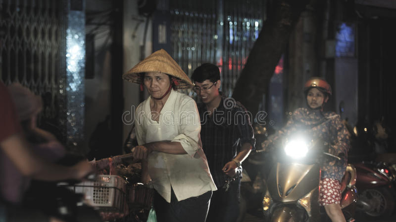 Street food in Hanoi Vietnam royalty free stock photos