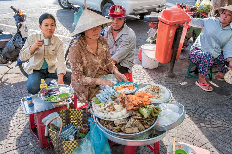 Street food in Ho Chi Minh City stock photography