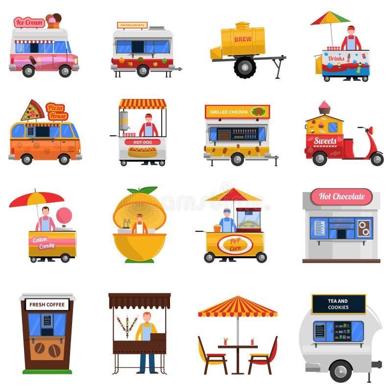 Street Food Icons Set royalty free illustration