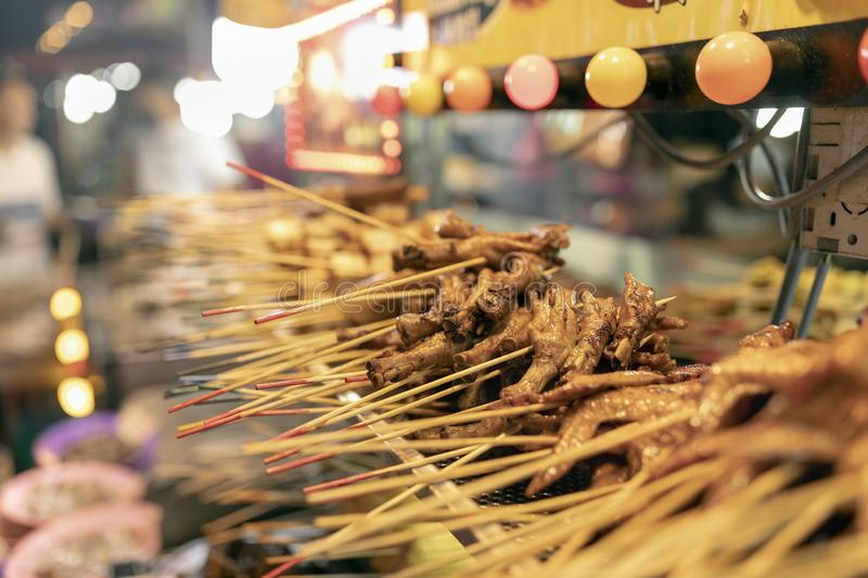 Street food in Kuala-Lumpur. Food street festive of traditional asian cuisine royalty free stock photography