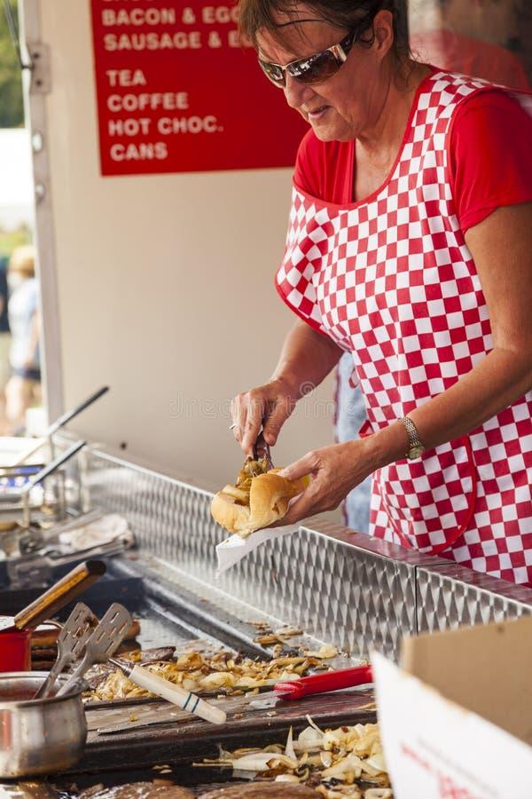 Street food. Leek Moorlands, United Kingdom - July 26, 2014 : Street food in Leek Moorlands, Staffordshire, England royalty free stock images