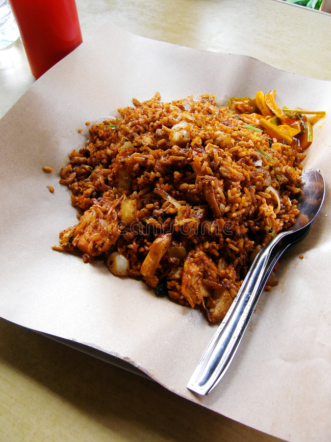 Street Food Malay Fried Rice Stock Photography
