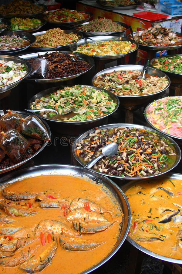 Street Food at Market stock photos