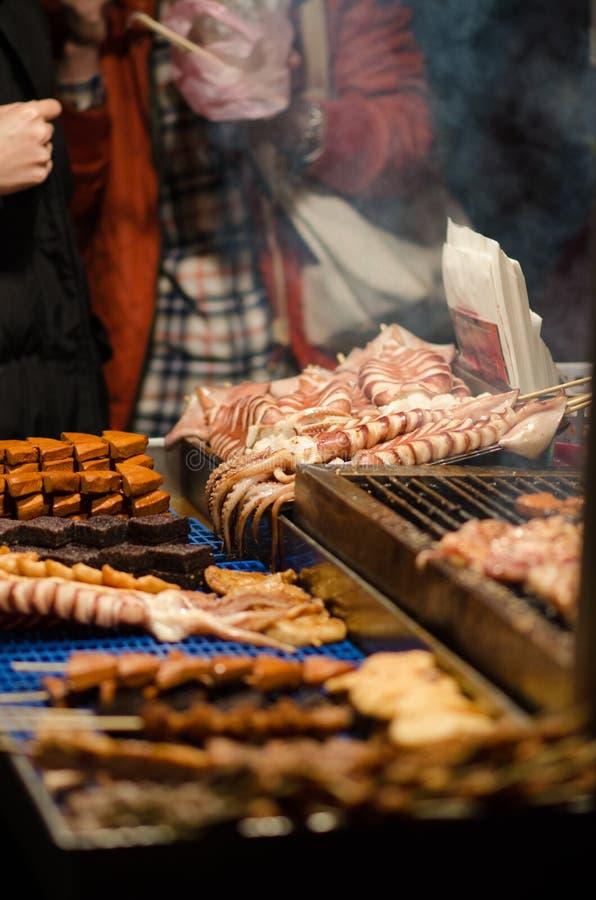 Street Food Market Vendor royalty free stock image