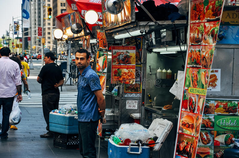 Street food in New York City. royalty free stock image