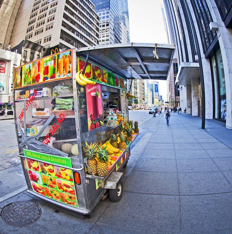 Street food. NEW YORK - SEPT 22: One of the hundreds of street food carts found on the streets of New York on September 22nd, 2013 in Manhattan, New York stock photo