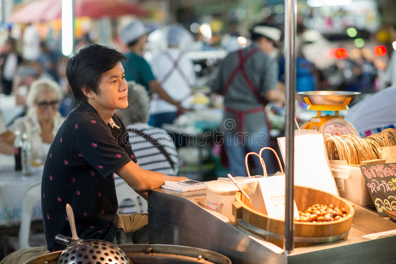 Street food at the Night Market in Hua Hin stock photos