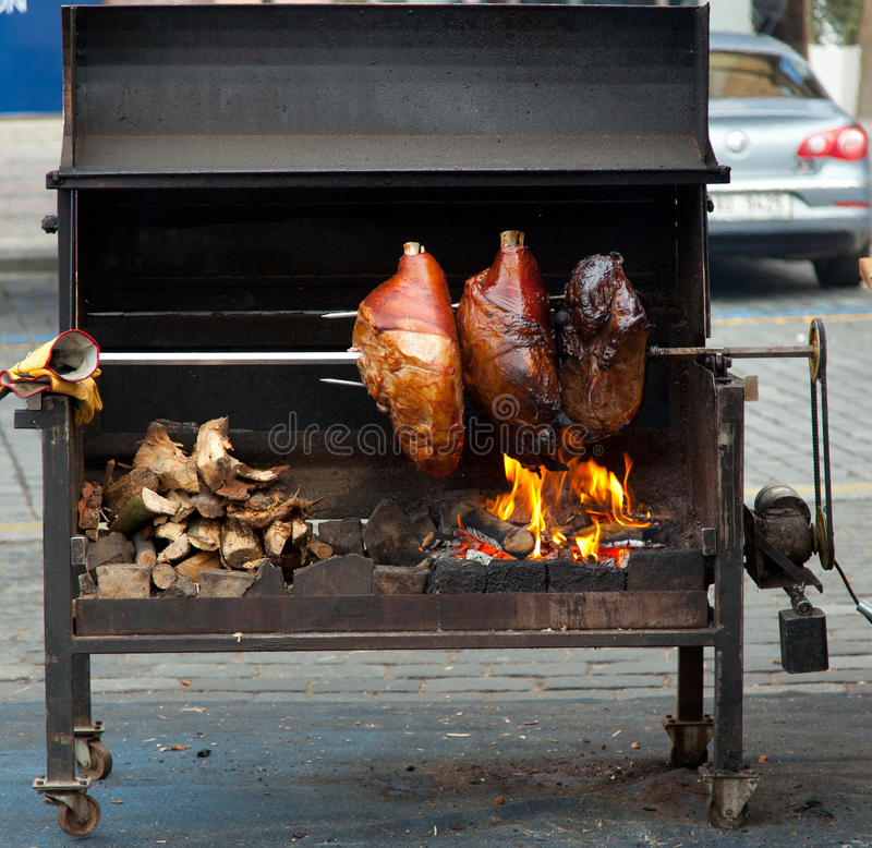 Download Street food in Prague stock photo. Image of roast, pork - 39508316