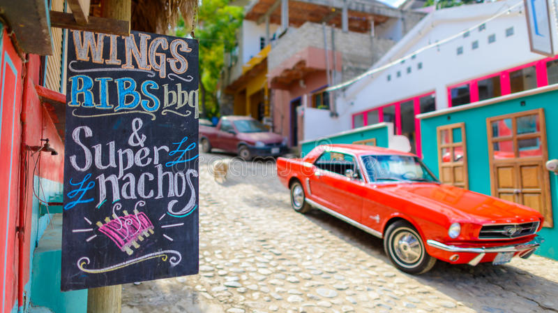 Street food in sayulita town,near punta mita,mexico royalty free stock photos