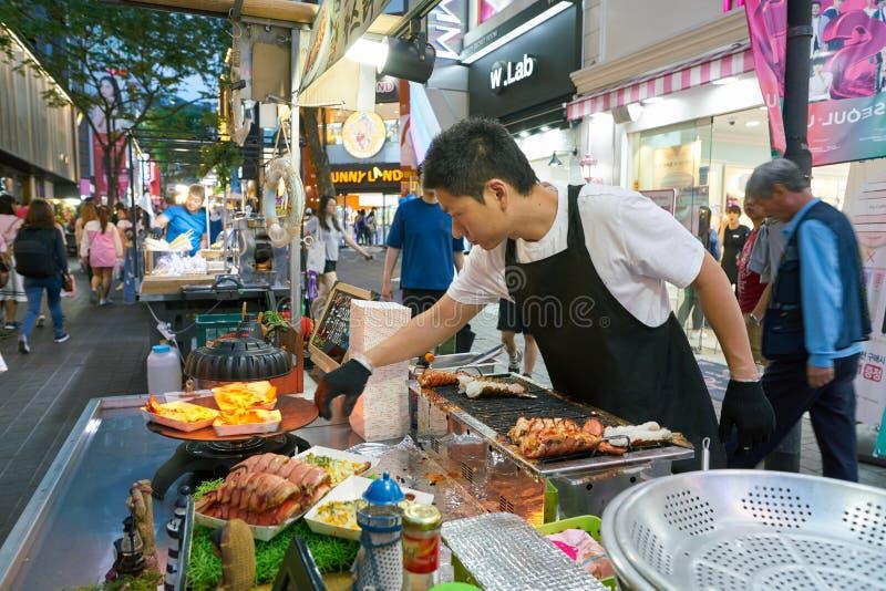 Street food stall royalty free stock photos