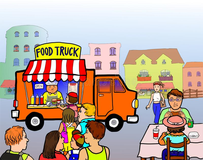 Street Food Truck vector illustration