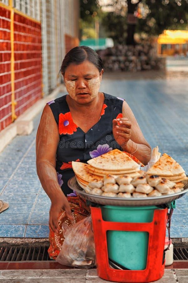 Street food, Yangon royalty free stock photography