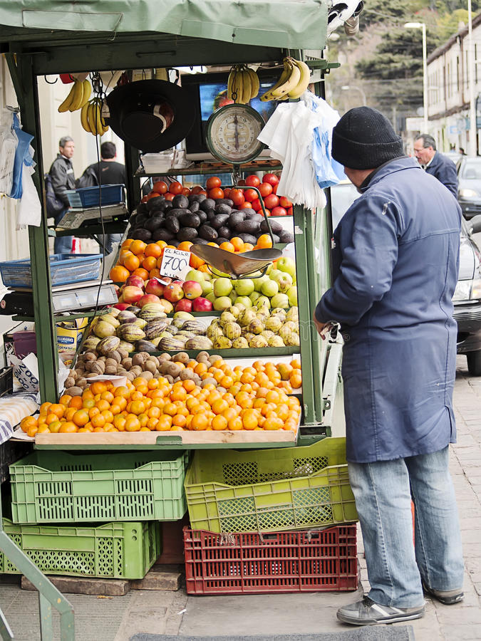 Street fruit sale stock image