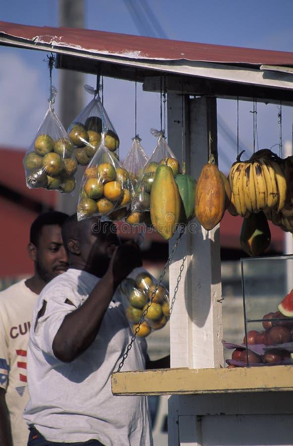 Street fruit shop, Tobago. royalty free stock image