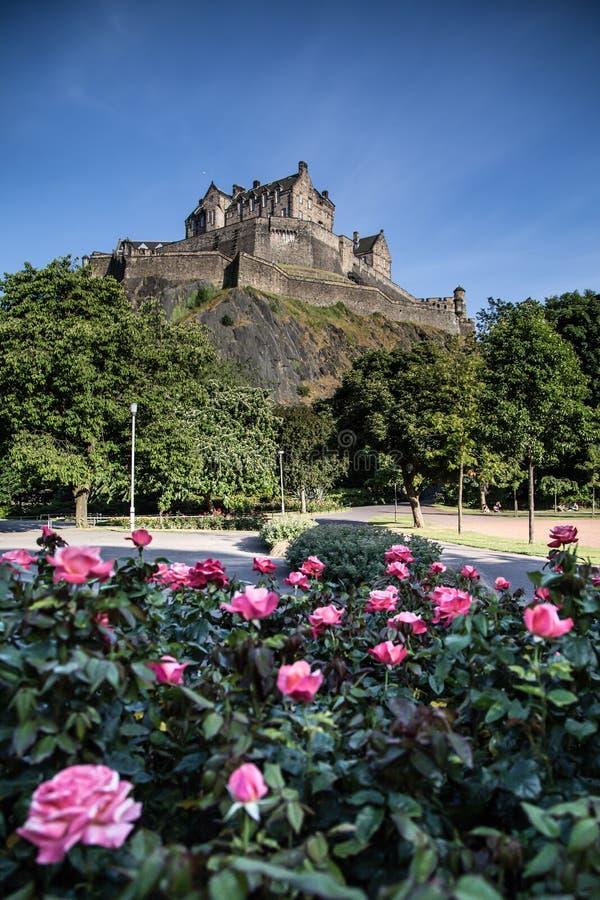 Street Gardens王子 爱丁堡,苏格兰 免版税库存照片